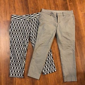 2 pair of cropped pants size 6, like new